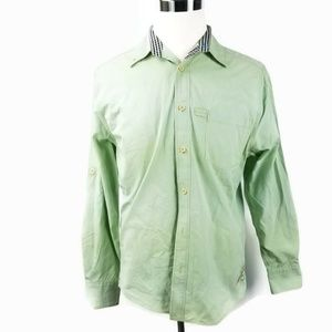 Margaritaville Mens Button Down Roll Tab Sleeve M